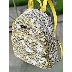 MK floral yellow print backpack